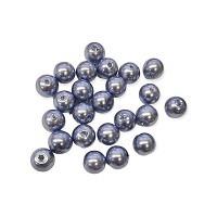 Glasperle kornblau Perlenschimmer 8mm ..