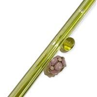 Moretti Glasstäbe transparent grün gelb  ca. 50-60gr. Effetre
