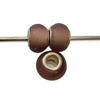 Easy style Modeschmuck perle lila matt 1 Stück
